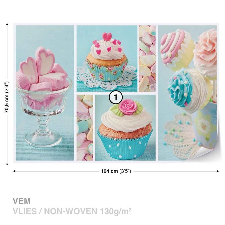 Cupcakes Wallpaper Mural