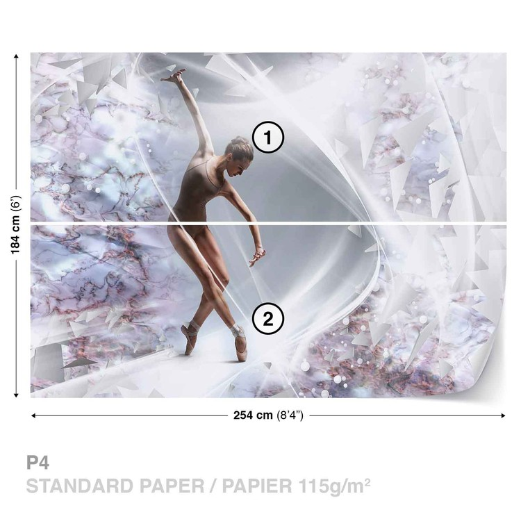 Dancer Abstract Wallpaper Mural