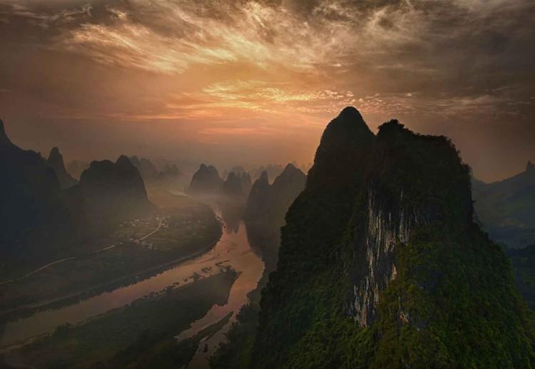 Dawn At Li River Wallpaper Mural