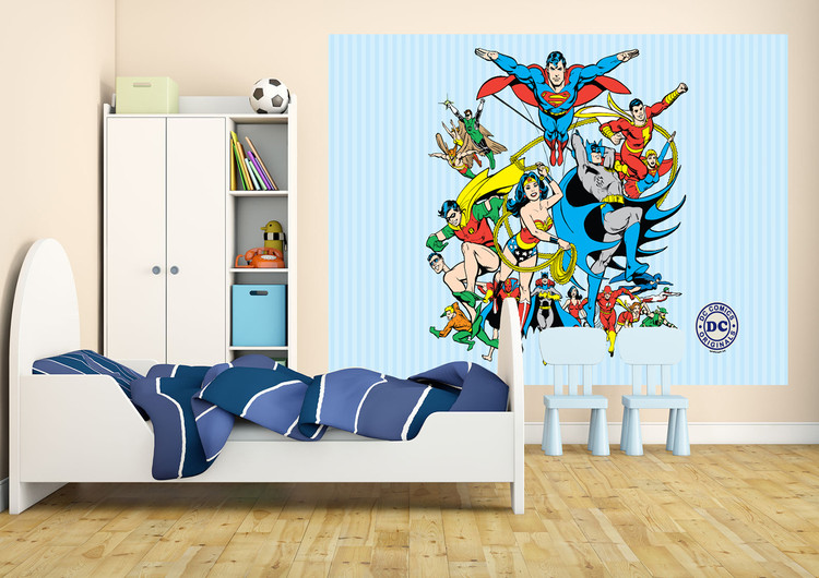 DC Comics Collage Wallpaper Mural