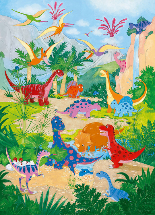 DINO WORLD Wallpaper Mural