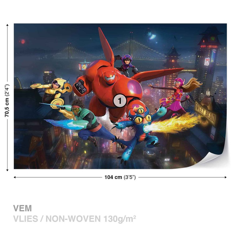 big hero 6 inspired Hiro poster print wall art decor merchandise Baymax