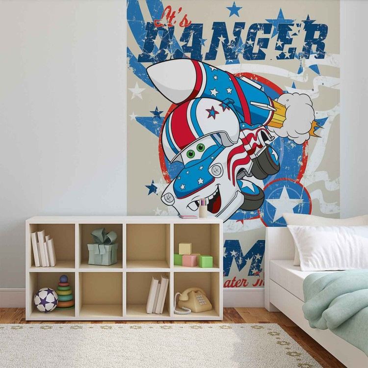 Disney cars wall paper mural buy at europosters for Cars 2 wall mural