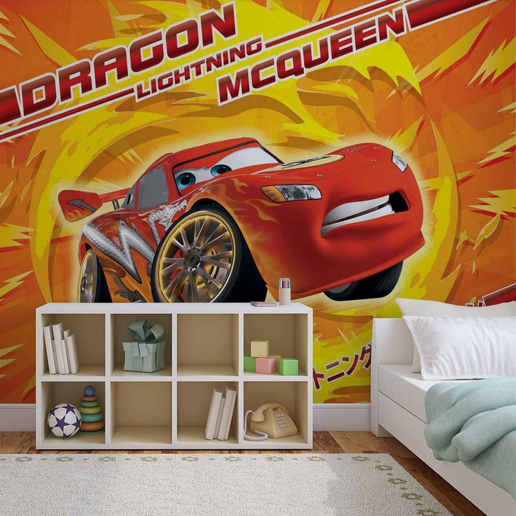... Disney Cars Lightning McQueen Wallpaper Mural ...