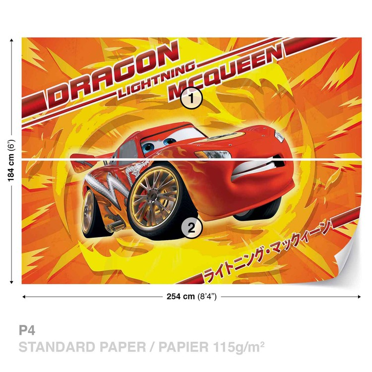 Disney Cars Lightning Mcqueen Wall Paper Mural Buy At Ukposters