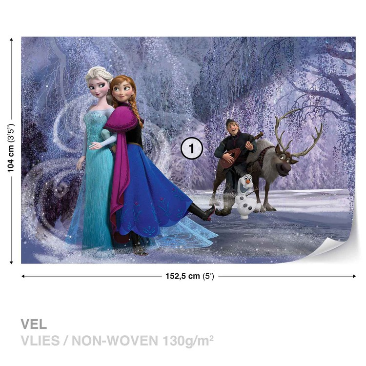 Disney Frozen Elsa Anna Wallpaper Mural