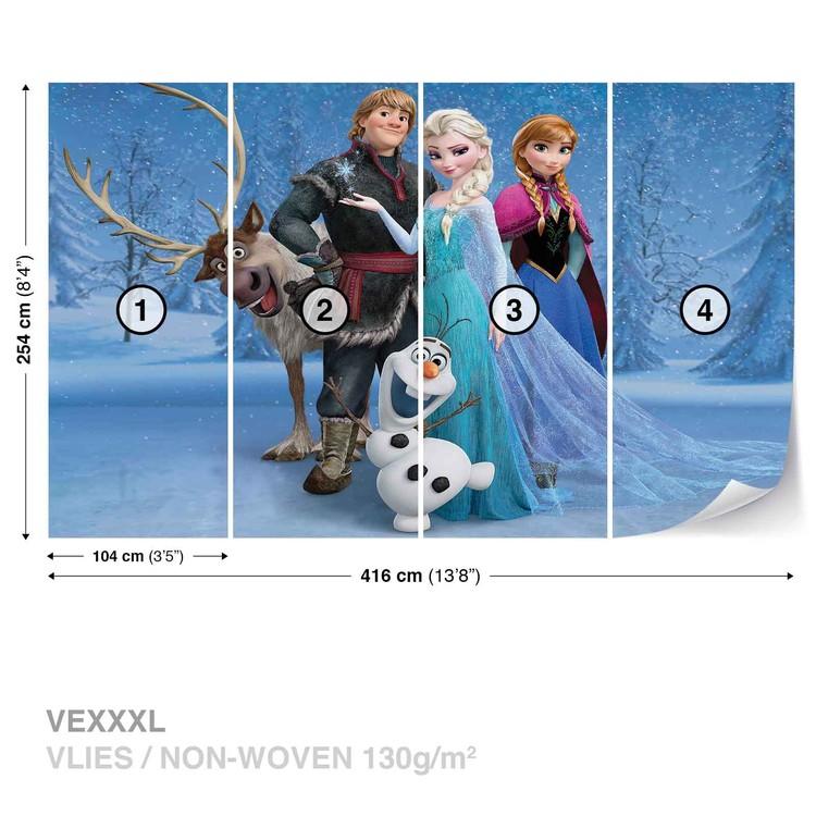 Disney Frozen Elsa Anna Olaf Sven Wallpaper Mural