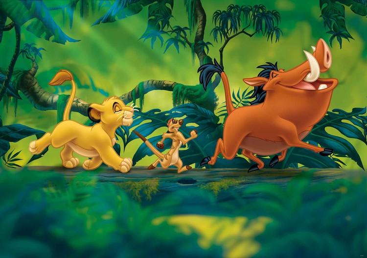 Disney Lion King Pumba Simba Wall Paper Mural Buy At Abposters Com