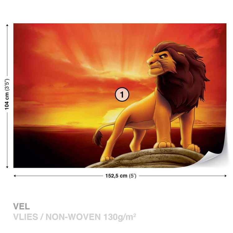Disney Lion King Sunrise Wallpaper Mural