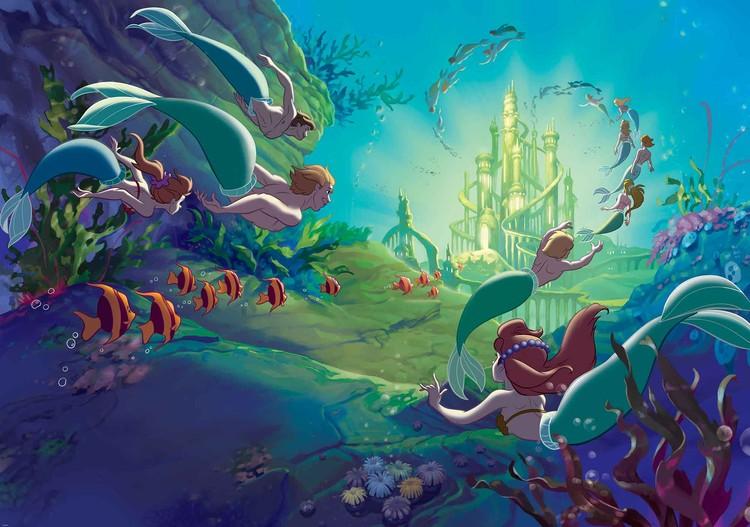 Disney Little Mermaid Wall Paper Mural Buy At Abposterscom