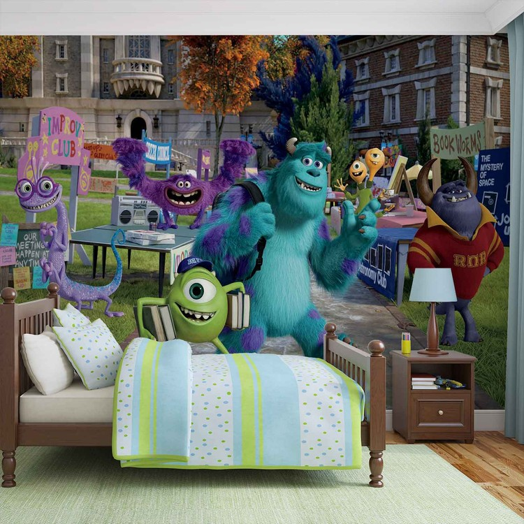 Disney Monsters Inc Wall Paper Mural Buy At Europosters
