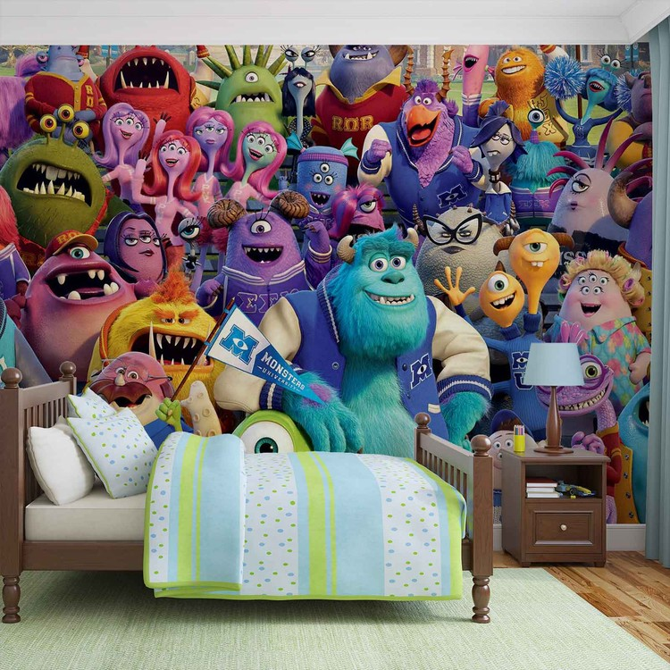 disney monsters inc wall paper mural buy at abposters com disney monsters inc wall paper mural