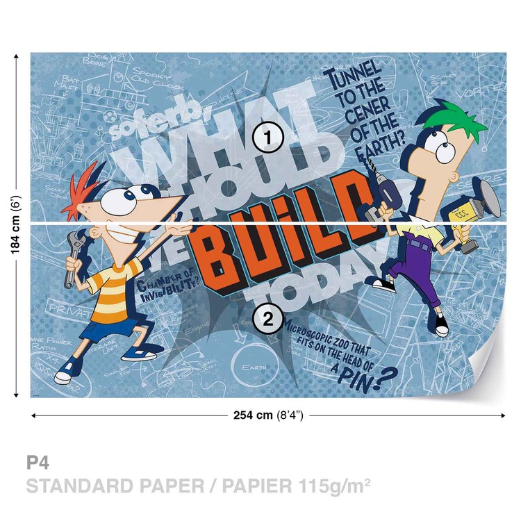 Disney Phineas Ferb Wallpaper Mural