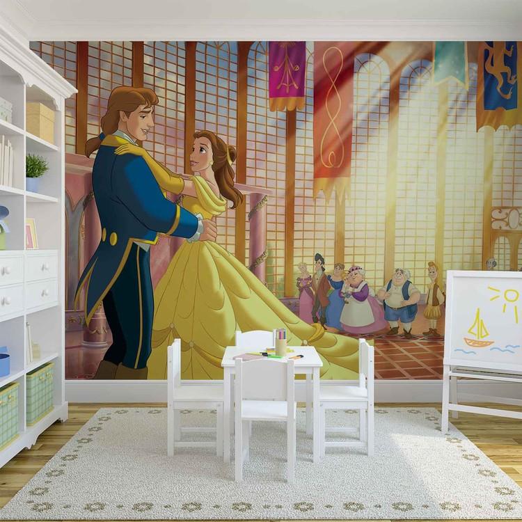 Disney Princesses Belle Beauty Beast Wallpaper Mural