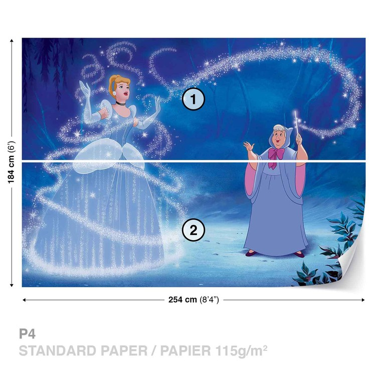 Disney Princesses Cinderella Wallpaper Mural