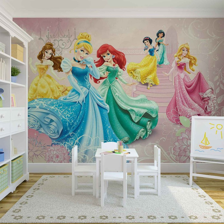 Disney Princesses Cinderella Aurora Wall Cover