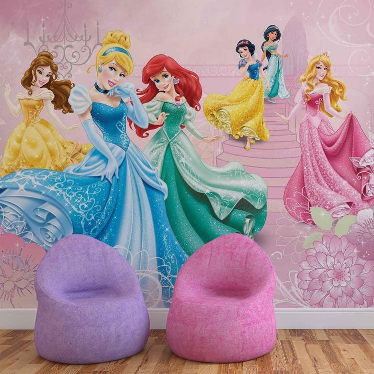Disney Princesses Cinderella Aurora Wall Paper Mural Buy At Europosters