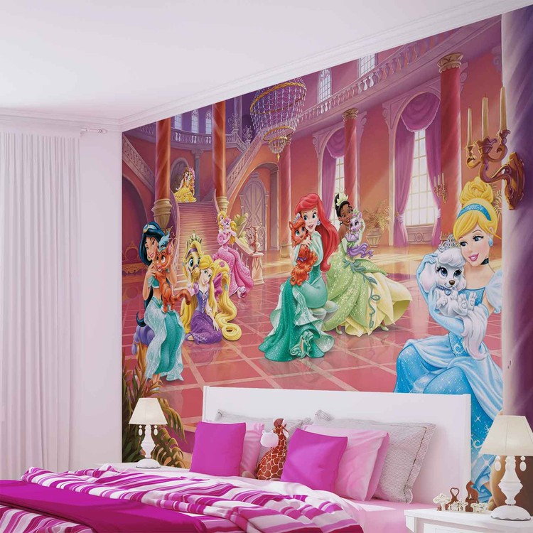 Disney Princesses Cinderella Jasmine Wallpaper Mural