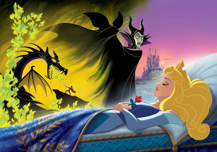Disney Princesses Sleeping Beauty Wall Paper Mural Buy At