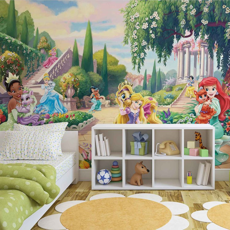 Disney Princesses Tiana Ariel Aurora Wallpaper Mural