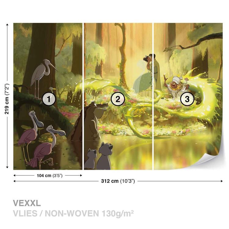 Disney Princesses Tiana Frog Kiss Wall Paper Mural | Buy at EuroPosters