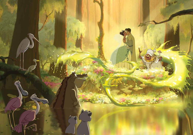 Disney Princesses Tiana Frog Kiss Wall Paper Mural Buy At Europosters