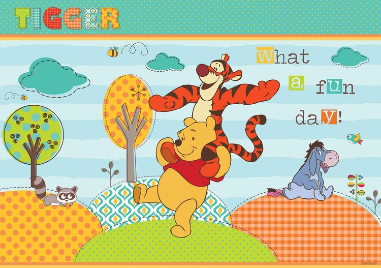 Disney Winnie Pooh Wall Paper Mural Buy At Europosters