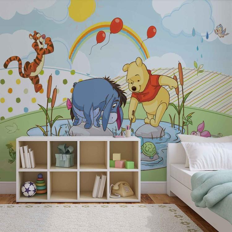 Disney Winnie Pooh Piglet Tigger Eeyore Wall Paper Mural Buy at