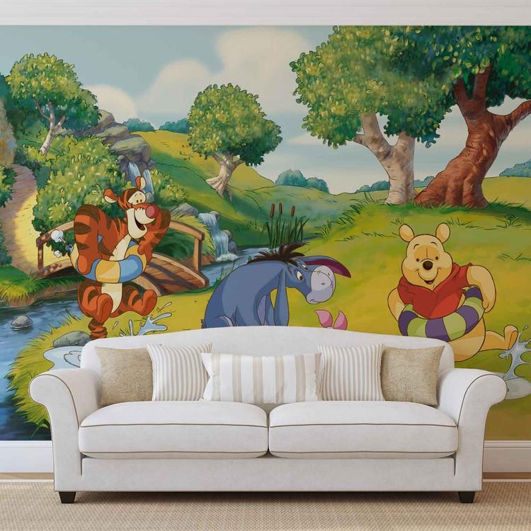 Disney Winnie Pooh Tigger Eeyore Piglet Wall Paper Mural Buy at