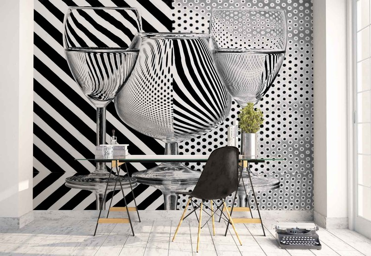 Dots And Stripes Wallpaper Mural