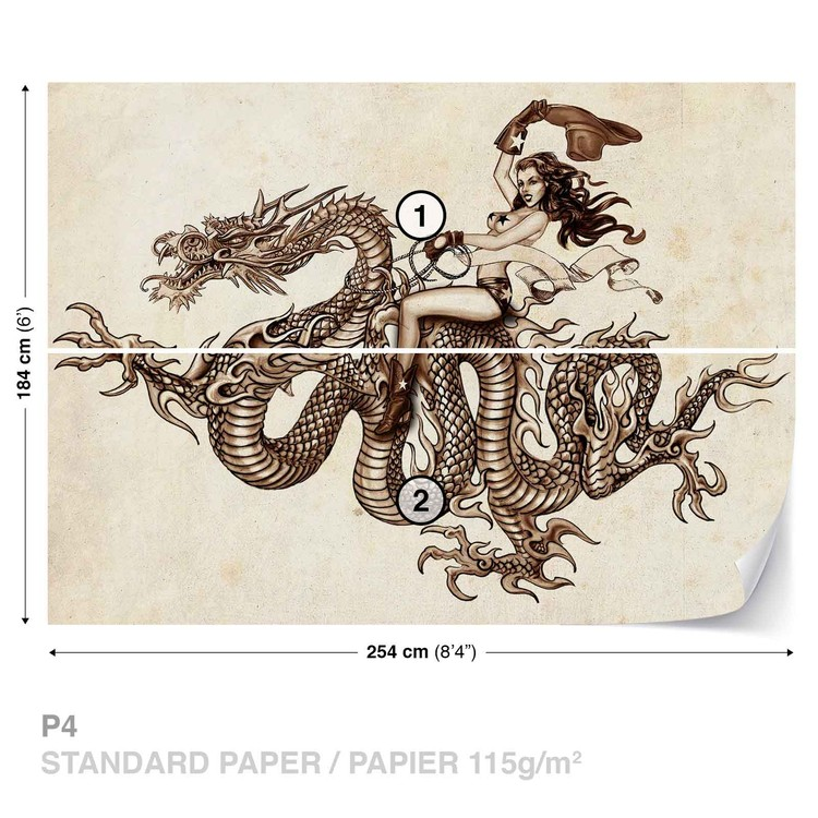 Dragon Tattoo Wallpaper Mural