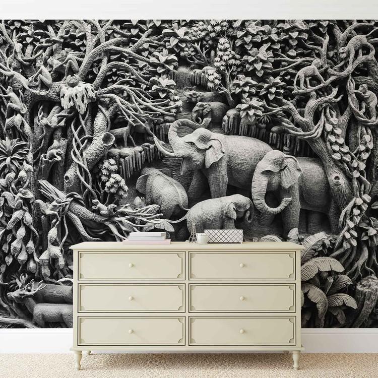 Elephants Jungle Wallpaper Mural