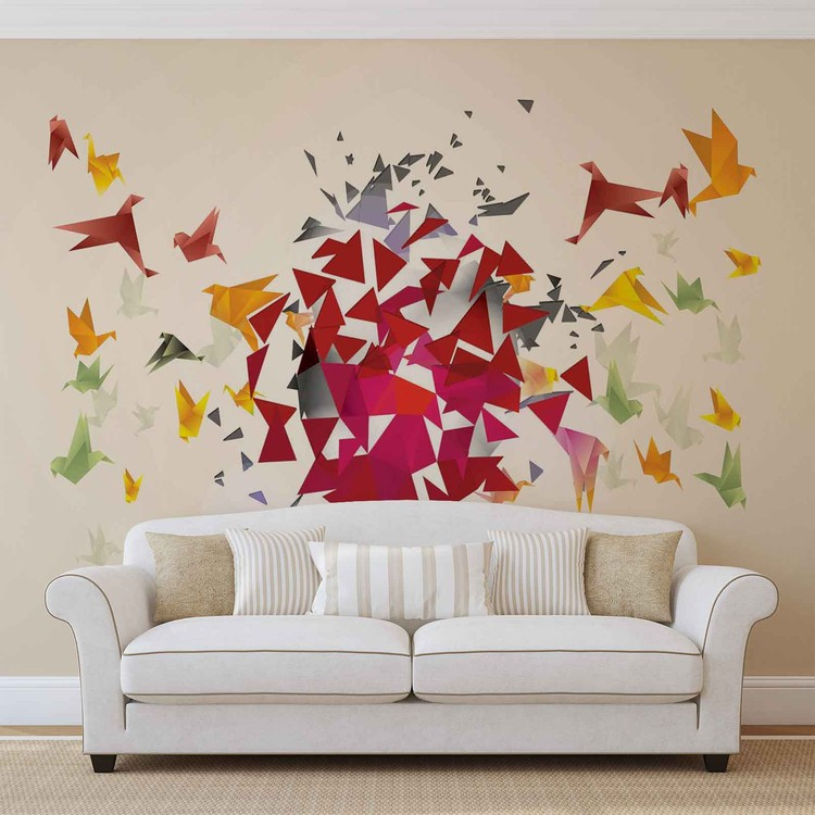 Explosion Abstract Wallpaper Mural
