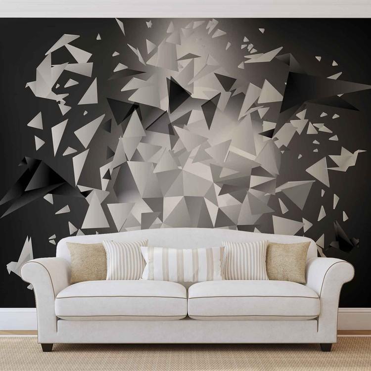 Explosion Birds Abstract Wallpaper Mural