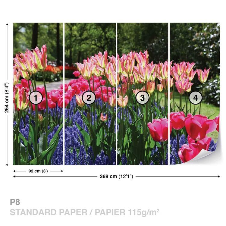 Field Of Flowers Wallpaper Mural