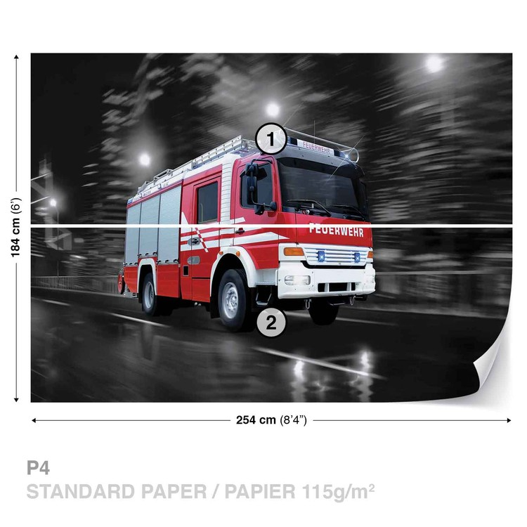 Fire Engine Wallpaper Mural