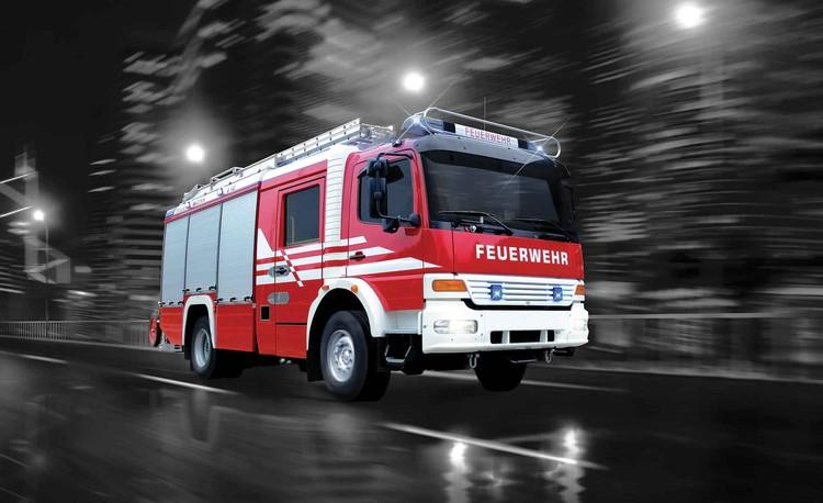 Fire Engine Wallpaper Mural
