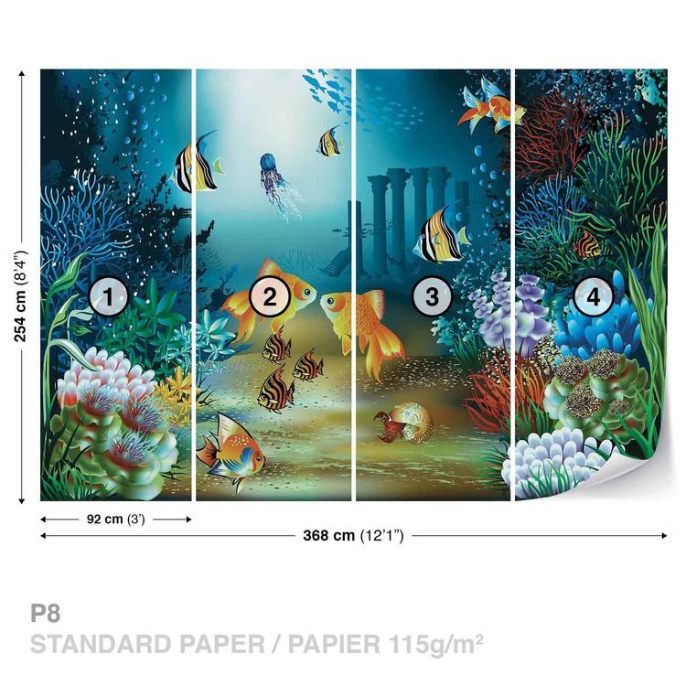 Fishes Corals Sea Wallpaper Mural