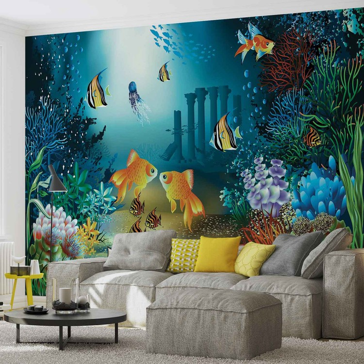 Fishes Corals Sea Wallpaper Mural