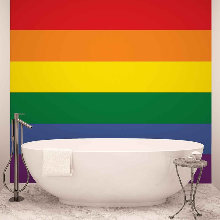 Flag Rainbow Gay Pride Wallpaper Mural