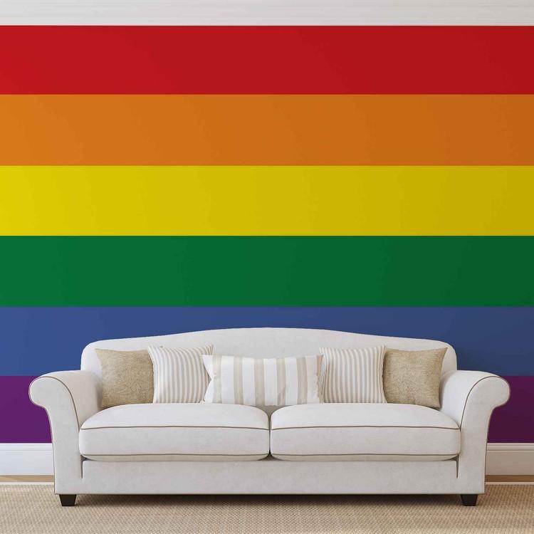 Flag Rainbow Gay Pride Wallpaper Mural