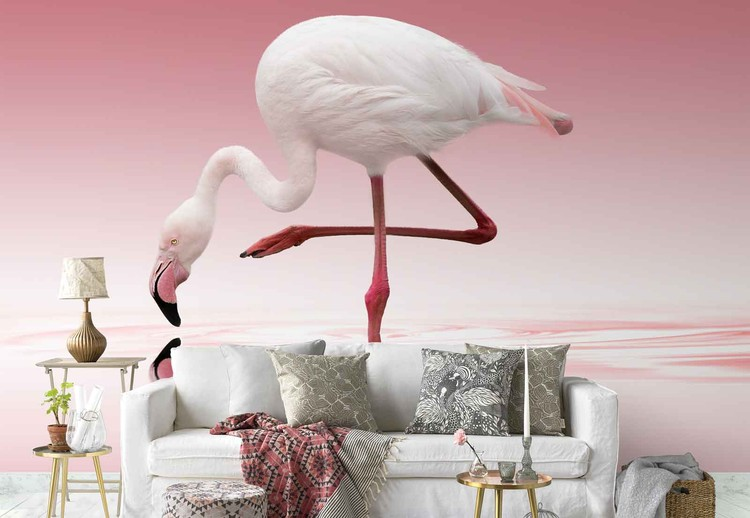 Flamingo Wall Paper Mural Buy At Europosters