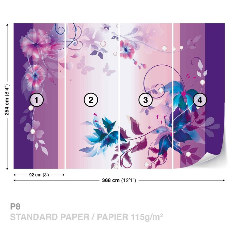 Floral Design Wallpaper Mural
