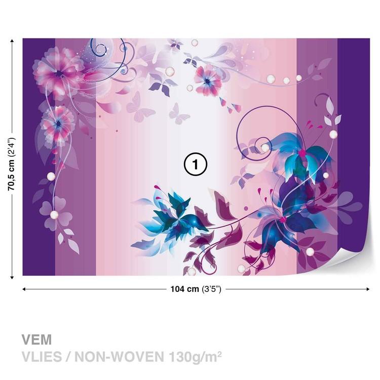 Floral Design Wallpaper Mural