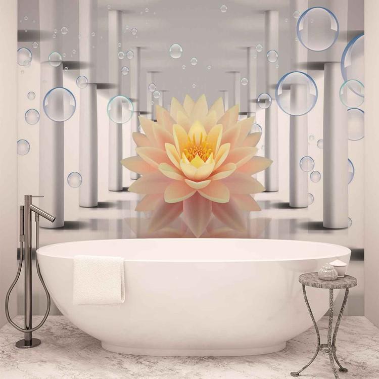 Flower Bubbles Pattern Wallpaper Mural