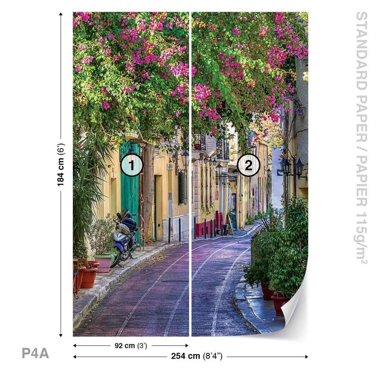 Flower Street Way Café Wallpaper Mural
