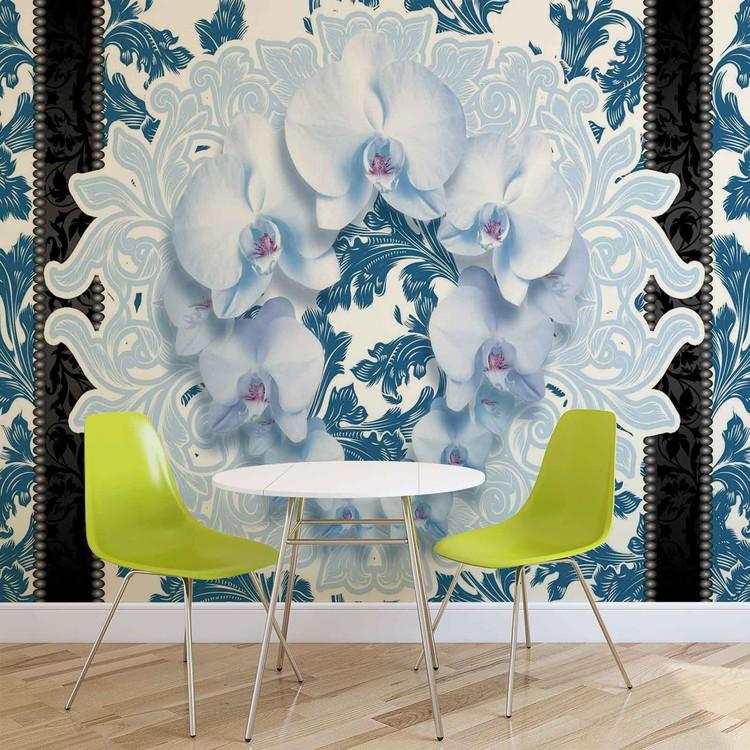 Flowers Floral Pattern Wallpaper Mural