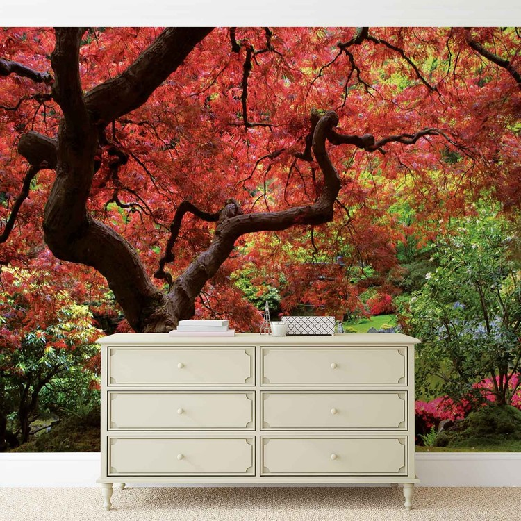 Flowers Forest Nature Wallpaper Mural