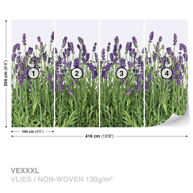 Flowers Lavender Wallpaper Mural