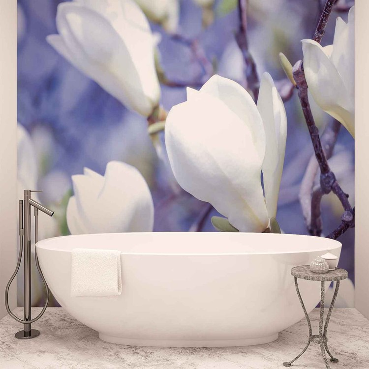 Flowers Magnolia Nature Wallpaper Mural